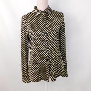 Diane Von Furstenberg heart blouse button down